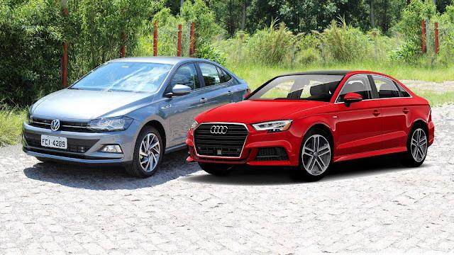 VW Virtus x Audi A3 Sedan