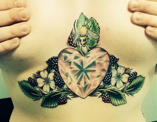 Awesome Sternum Tattoos