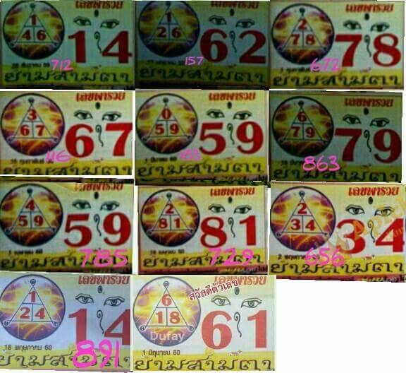 Thai Lotto Route Chart Full game Tip 01.06.2017 - Thai Lotto 001 TIPS ...