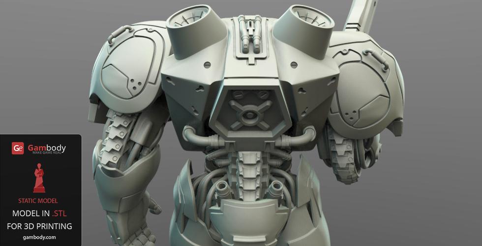 Terran Marine Star Craft Figure for 3D printing