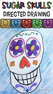 Engage your students with this fun sugar skull directed drawing!