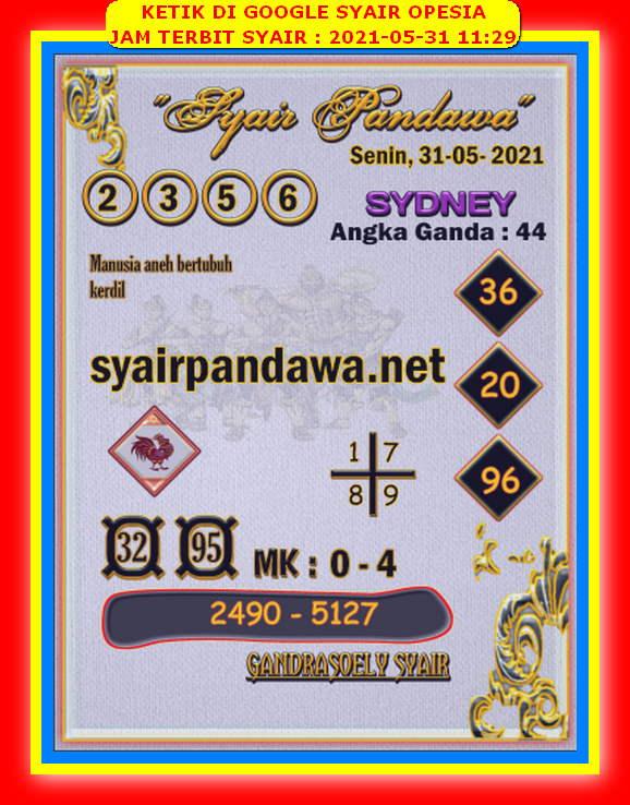 Syair sdy opesia hari ini 17 juni 2021