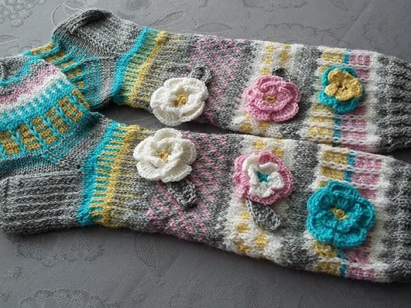 Anelmaiset kukkasukat - Flower socks