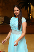 Pujita Ponnada in transparent sky blue dress at Darshakudu pre release ~  Exclusive Celebrities Galleries 010.JPG
