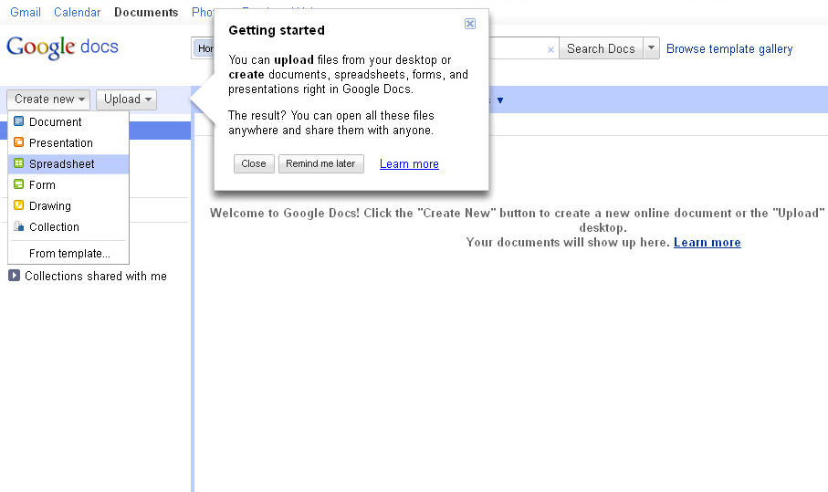 Buat tabel dalam postingan blog via google documents for Google documents and data