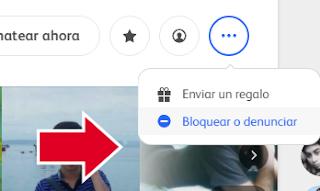 bloquear usuarios badoo desde el perfil