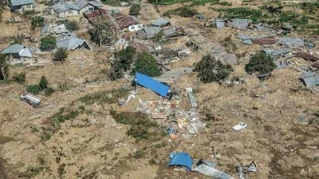 Foto-foto Memilukan Kampung Petobo Palu `Tertelan Bumi`