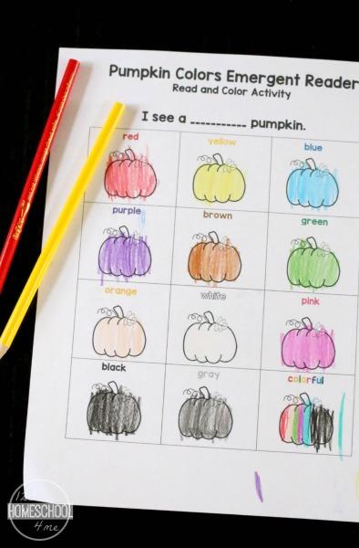 color names kindergarten worksheets
