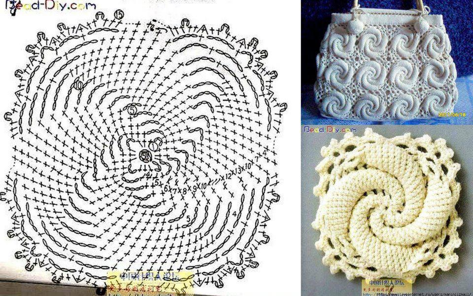 Patron Crochet Bolso Caracol