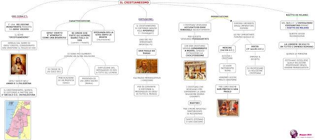 mappedsa mappa schema dsa dislessia storia cristianesimo nascita diffusione religione cristiana