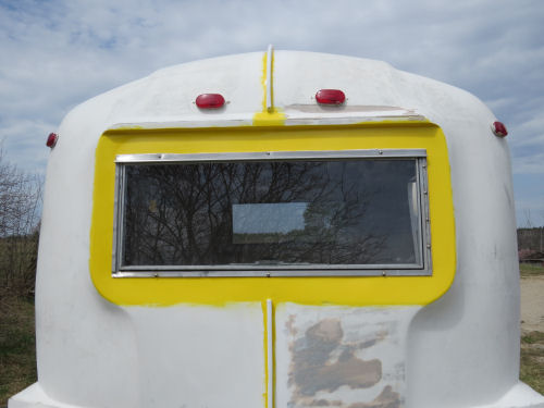 reinstalled windows in Companion fiberglass trailer