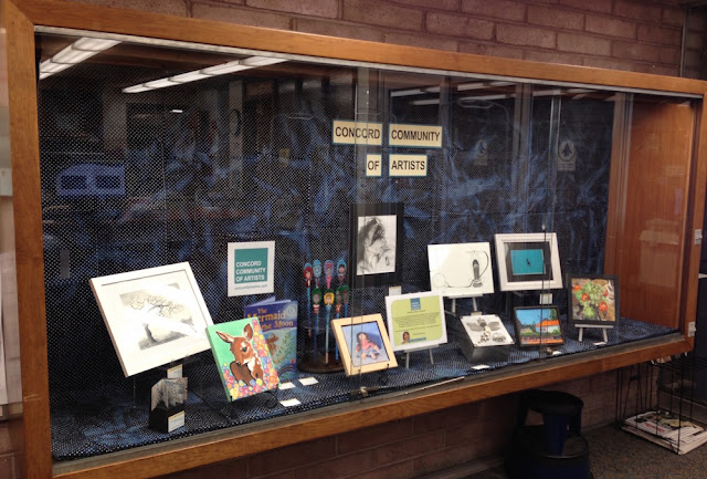 concord community of artists library display 2016