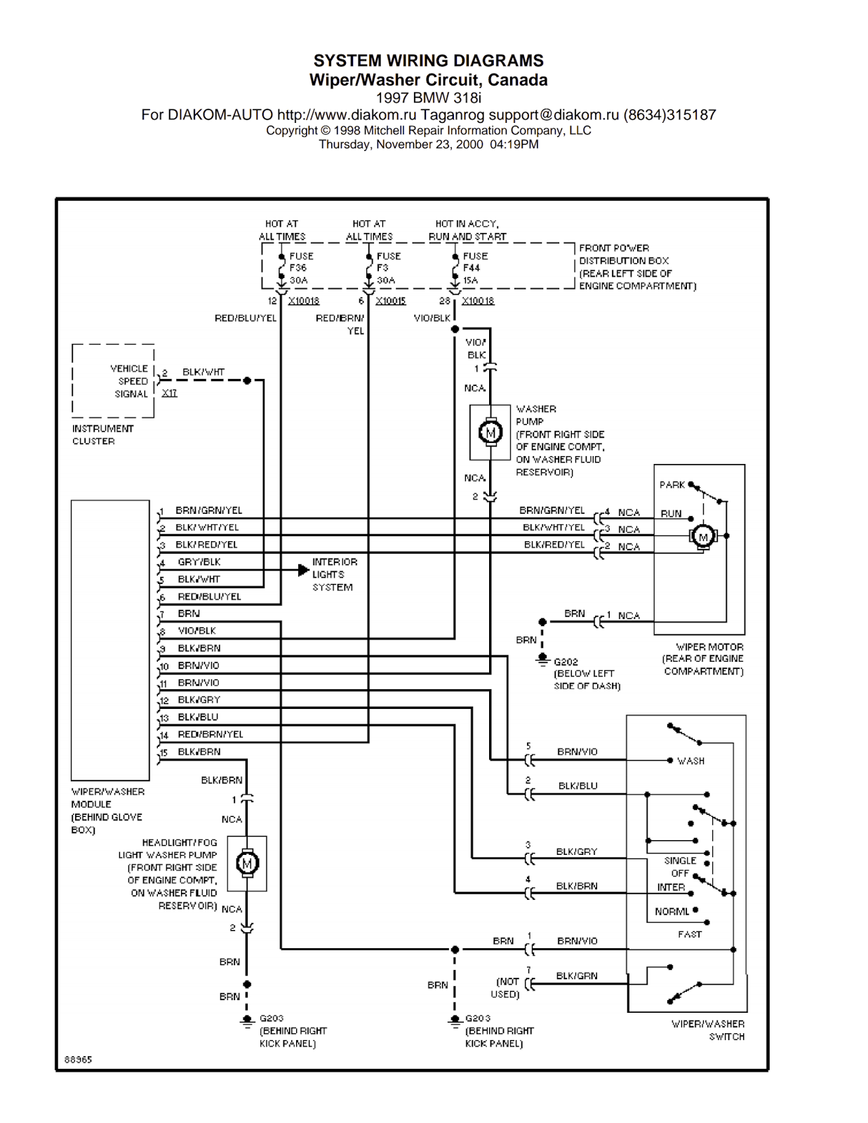 Wiring Diagrams and Free Manual Ebooks: 1997 BMW 318i