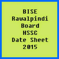 Rawalpindi Board HSSC Date Sheet 2017, Part 1 and Part 2