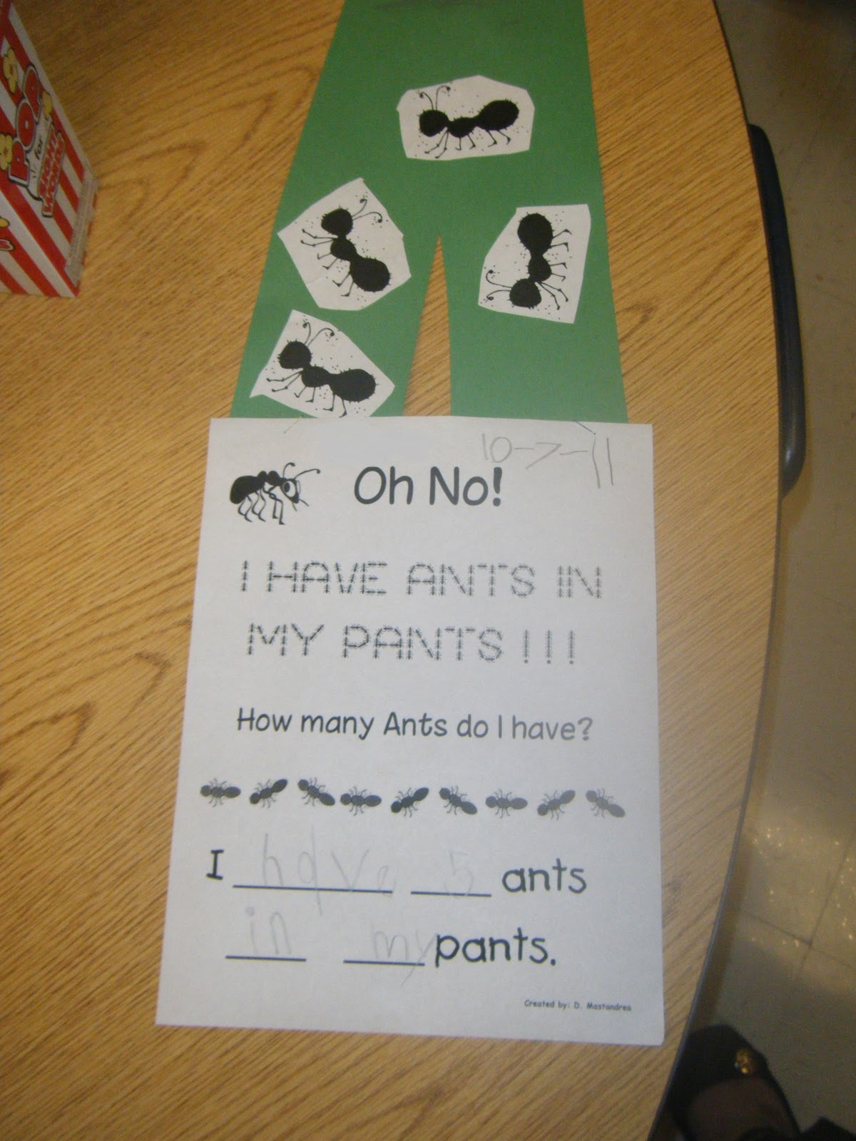 Ms M S Kg Class Math Counting Ants In My Pants