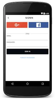 tampilan login uber android studio arifweb