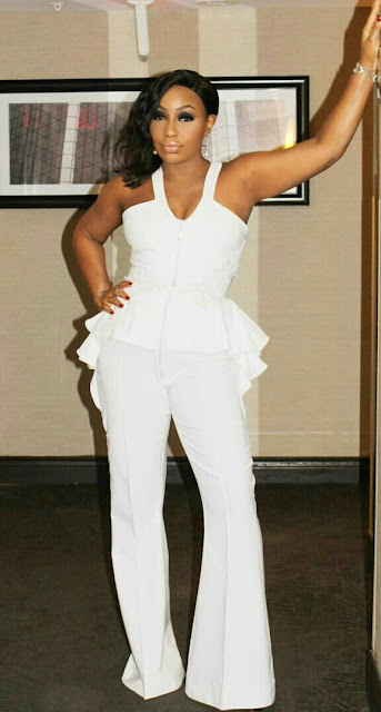 Rita Dominic Is An Absolute Stunner In White Jumpsuit