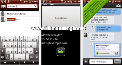 Obten informacion de tus contactos con ContactKicker para Kik
