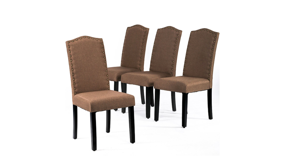 BestMassage Dining Chairs Armless Kitchen Room Chair