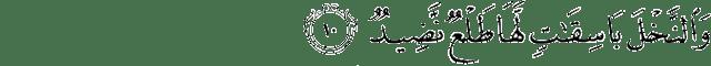 Surat Qaaf ayat 10