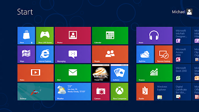 tela inicial windows 8