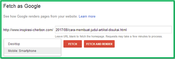 fetch as google submit to index