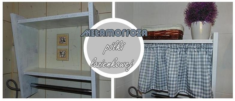 metamorfoza półki łazienkowej