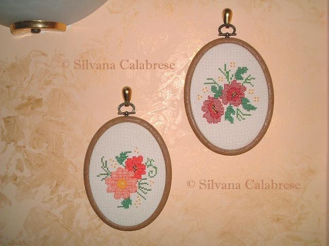 quadretti ovali due fiori anemoni Silvana Calabrese Blog