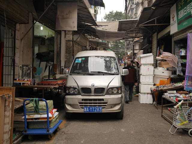 Van stopped on Yanjiatang Lane (晏家塘巷) in Changsha