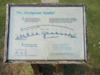 How to read the Stockgrove Sundial Sign