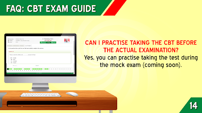 CAN I PRACTICE TAKING THE CBT BEFORE THE ACTUAL EXAMINATION?
