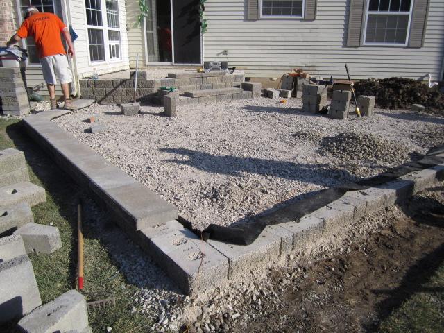 Building A Patio With Pavers Laura Williams - Raised brick patio