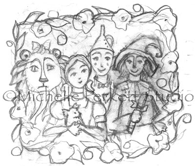 ENCHANTED INSPIRATIONS: WIZARD OF OZ SKETCH