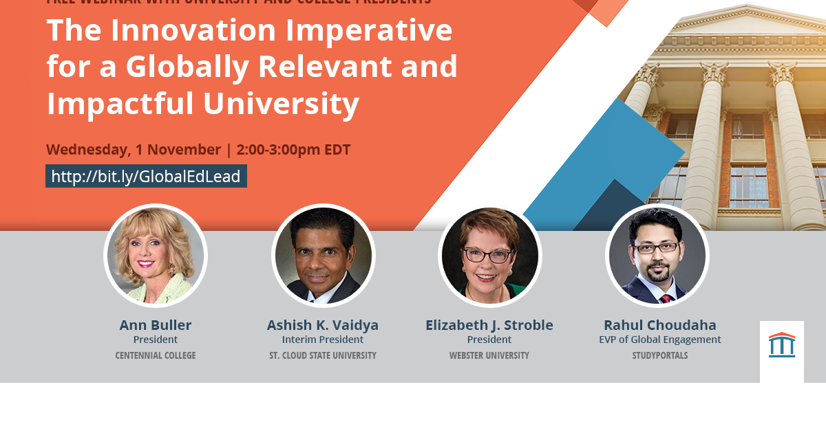 Webinar with university and college president on global engagement