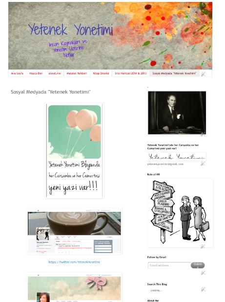 Yetenek Yonetimi Sosyal Medya Sayfasi