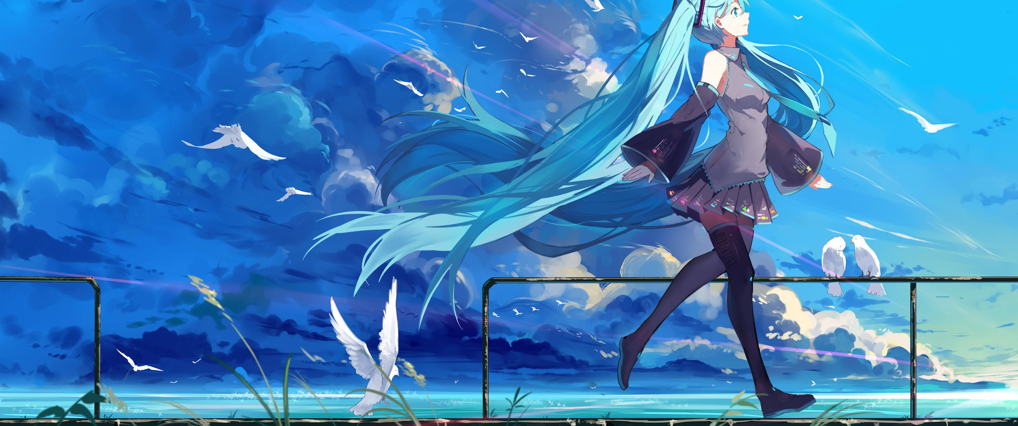 Hatsune Miku Anime Girl 4k Wallpaper 190