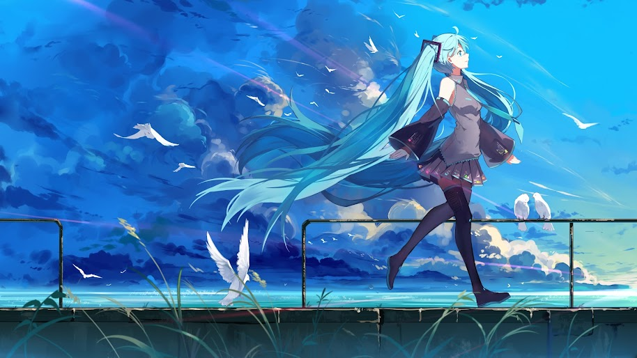 Hatsune Miku Anime Girl 4k Wallpaper 190