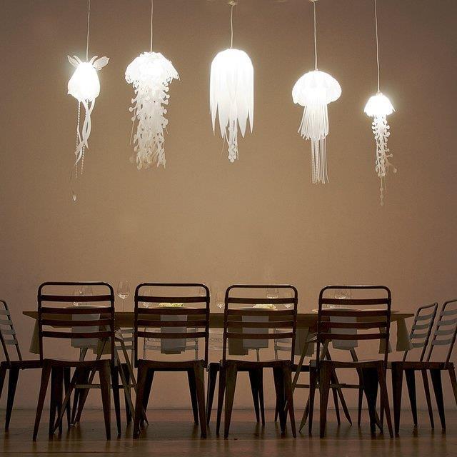 Modern ocean creature lights our kitchen ceiling light