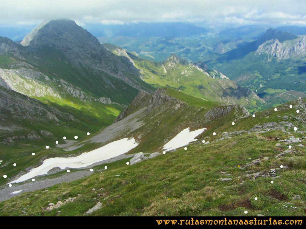 Ruta Tuiza Fariñentu Peña Chana: Desde el Prau del Albo, bajando por valle de Corrales