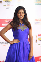 Eesha in Cute Blue Sleevelss Short Frock at Mirchi Music Awards South 2017 ~  Exclusive Celebrities Galleries 017.JPG