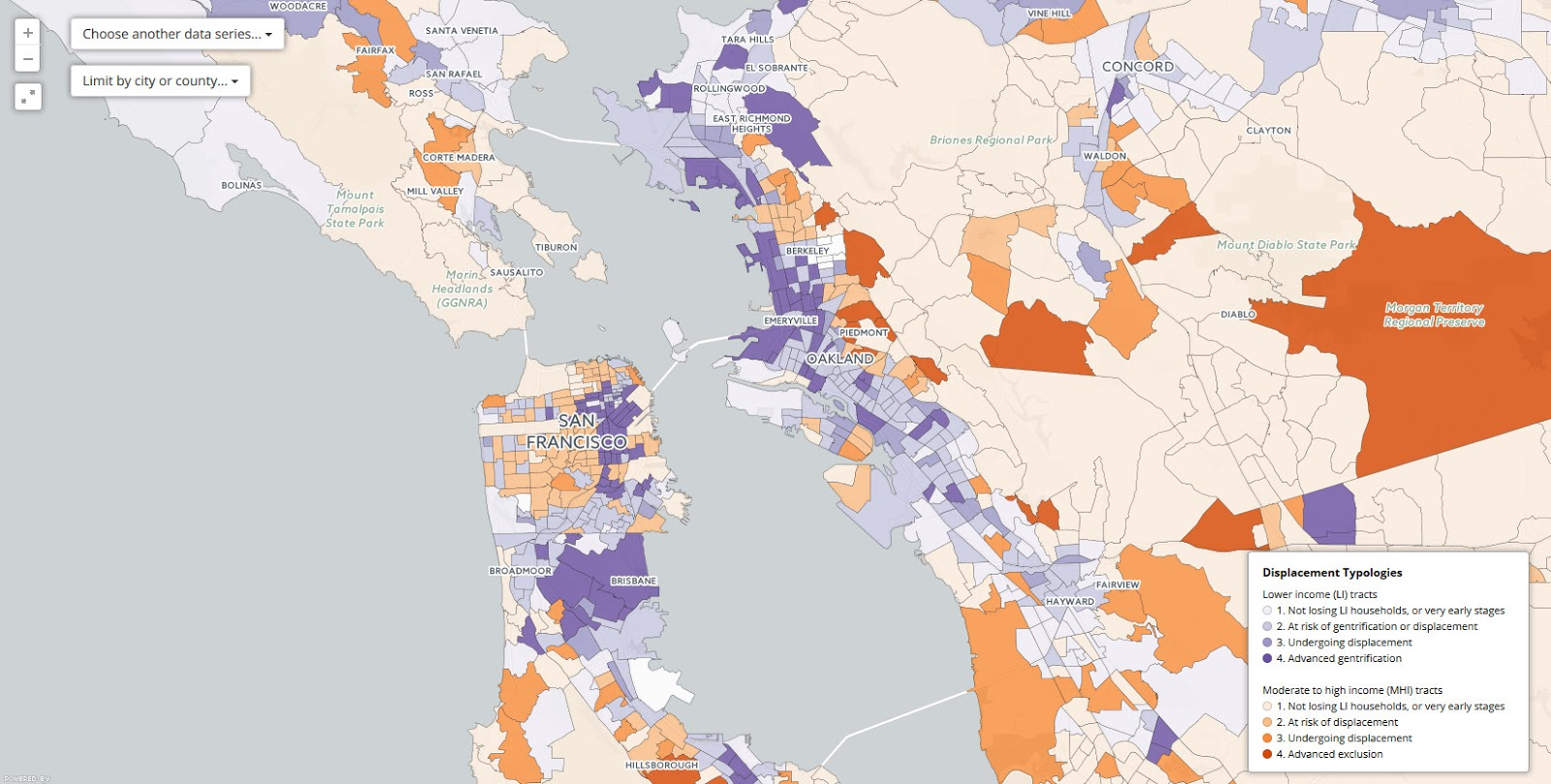 Mapping Displacement and Gentrification in the San Francisco Bay Area