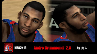 NBA 2K13 Andre Drummond Cyber Face Mods and Patches