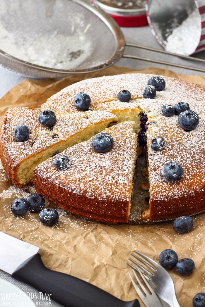 HOMEMADE BLUEBERRY CAKE #cakerecipes