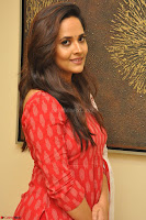 Anasuya Bharadwaj in Red at Kalamandir Foundation 7th anniversary Celebrations ~  Actress Galleries 029.JPG
