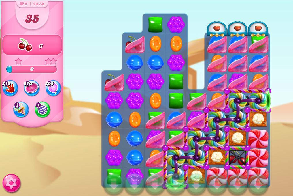 Candy Crush Saga level 7474
