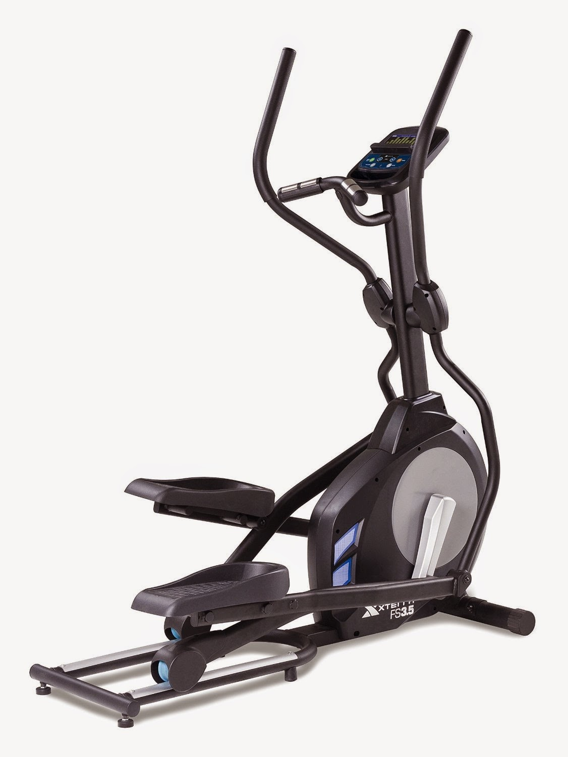 "Xterra Xterra FS3.5 Elliptical Trainer, review, 24 pre-set workout programs, 2 heart rate programs, 1 manual program, 24 magnetic resistance levels, 17"" stride length, sound system"