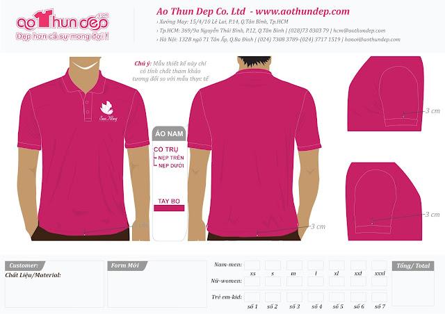 Đồng phục áo thun Sen Hồng Clinic & Spa