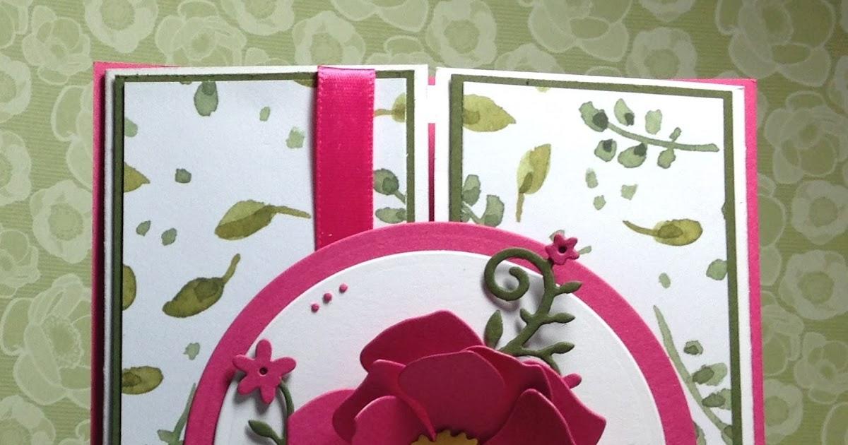 cottageblog gate fold flower card