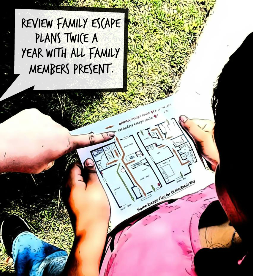 Review escape plans with family members at least twice a year. #ReadyLA helps provide L.A. Country residents with disaster preparedness tips, techniques, tools, and up to the minute information during disaster events. www.readyla.org #sponsored