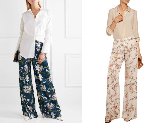 Пижамные брюки с белой и розовой рубашкой